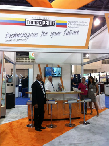 Tampo at trade show