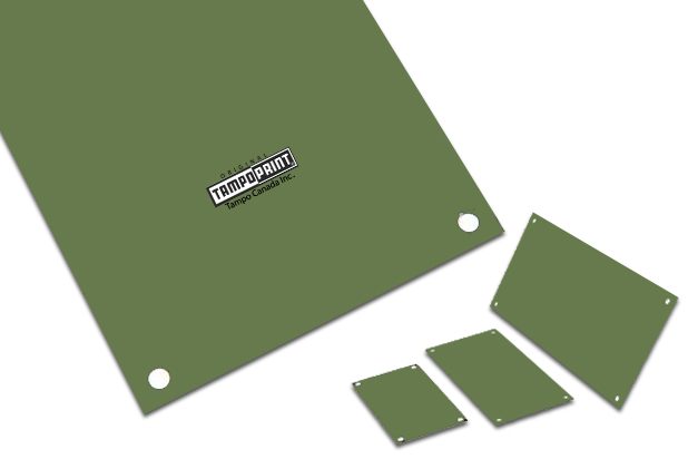 Cool Green, Water Wash Photopolymer plate